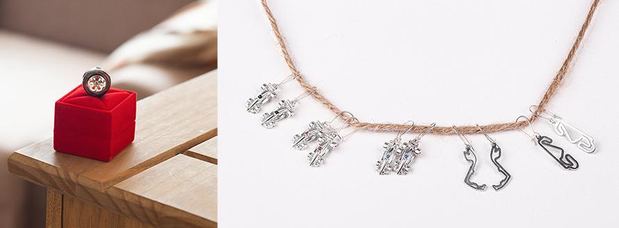 Motorsport Jewellery for racing fans